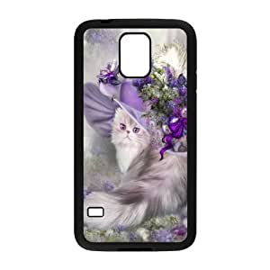 CAT YT8056317 Phone Back Case Customized Art Print Design Hard Shell Protection SamSung Galaxy S5 G9006V