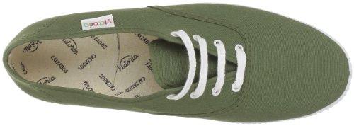 Victoria Kaki Inglesa de Lona Verde Zapatillas 6613 Unisex Tela qUq8r