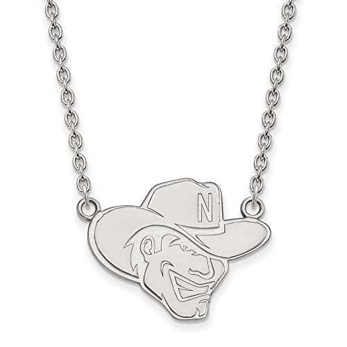 925 Sterling Silver Officially Licensed University College of Nebraska Large Pendant with Necklace (18 in x 1.95 mm) by Unknown