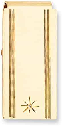 Diamond2Deal Gold-Plated Kelly Waters Checkerboard Hinged Money Clip Length: 23 mm|Width: 50mm