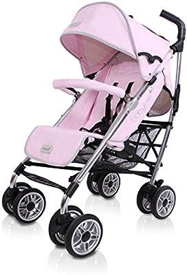 BabyLuxe - Silla de paseo - Chasis plata, base piel rosa - Outlet: Amazon.es: Bebé
