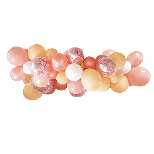 55 Packs DIY Balloons Garland Kit with Champagne,Rose Gold,Prefilled Confetti Latex Balloons into Arch,Perfect for Birthday Party Bridal Baby Shower Engagement Wedding Party Decor ()