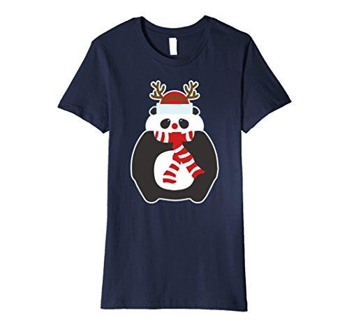 Womens Panda Bear Reindeer Christmas Shirt Holiday Weird Cute Large - List Of Holidays Weird
