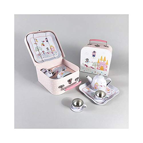 Floss & Rock Fairy Unicorn 7 Piece Play Tin Tea Set