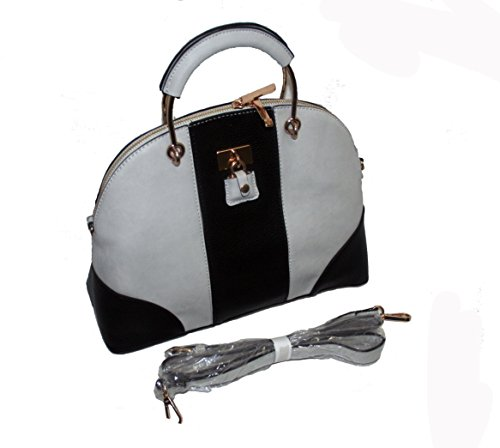 faith black & grey handbag