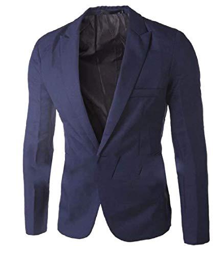Marineblau Vestes Business Printemps Fit Revers Longues Casual Costume Fashion 1 Casua Slim Homme Bouton Blazer Men's Moderne Manches FvqZpTvw