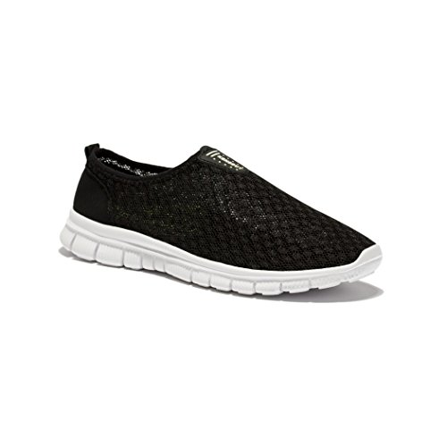 Chaussures De Course Slip-on Deer Summer Mens, Plage Aqua, Outdoor, Chaussures Casual Noir
