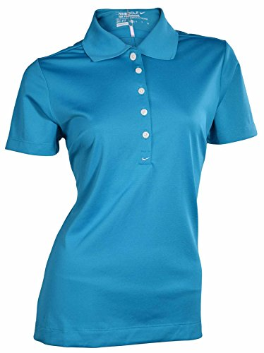 Nike Women's Dri-Fit Tour Performance Golf Polo Shirt-Dark Teal-Small