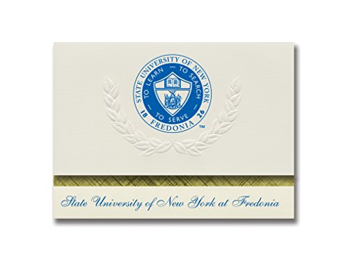 Signature Announcements State University of New York at Fredonia Graduation Announcements, Platinum style, Elite Pack 20 with SUNY Fredonia Seal Foil by Signature Announcements