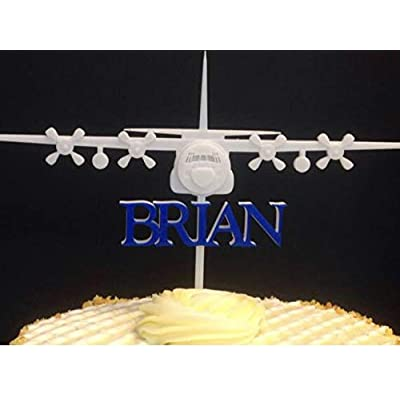 C130 AC130 Air Force Plane Personalized Cake Topper: Handmade