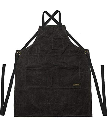 Readywares Waxed Canvas Utility Apron, Cross-back Straps (Black) by Readywares (Image #2)