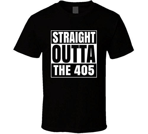 Straight Outta the 405 Oklahoma Area Code NWa Parody T Shirt