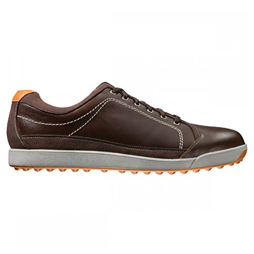 Closeout Athletic Shoes (Mens FootJoy Contour Casual Closeout Golf Shoes 54222 Brown/Orange)