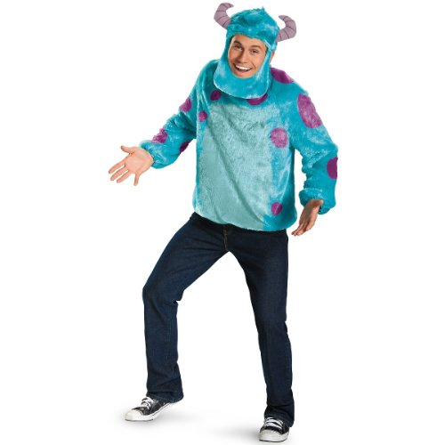 [Sulley Deluxe Adult Costume - X-Large - Chest Size 42-46] (Mens Monster Costumes)
