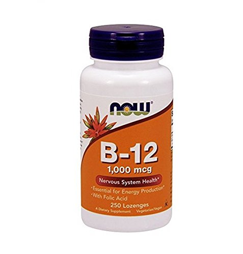 NOW Foods B-12 1000mcg  250 Lozenges