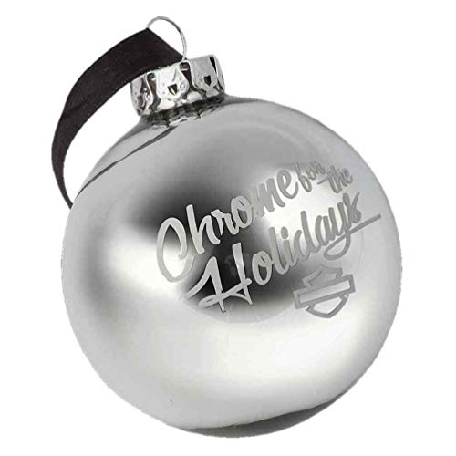 Harley-Davidson Winter Chrome for The Holidays Ball Ornament, Silver HDX-99125 ()