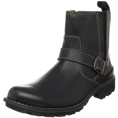 Amazon.com | CLARKS Men's Chilton Side-Zip Buckle Boot