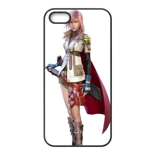 Eclair Farron Final Fantasy 007 coque iPhone 4 4S Housse téléphone Noir de couverture de cas coque EOKXLLNCD17784