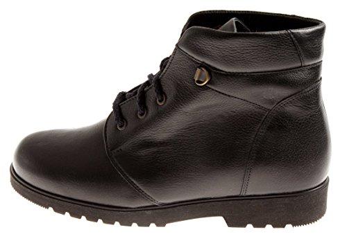 Ganter Schnürboots Lederstiefel Schnürstiefel Leder Boots Wolle 76.851 Nachtblau