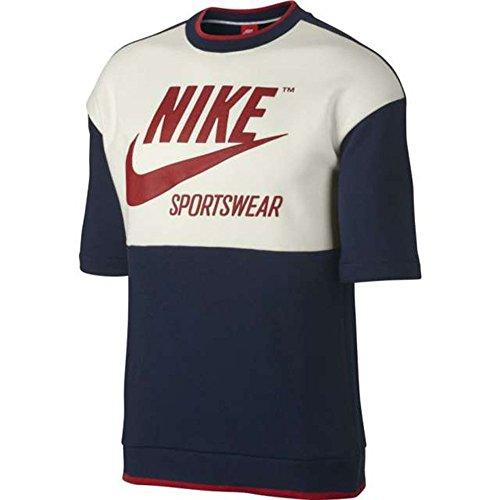 Nike Vintage Blazer Mid Bleu Fonc Wmns Mode Lthr U1UqH4T