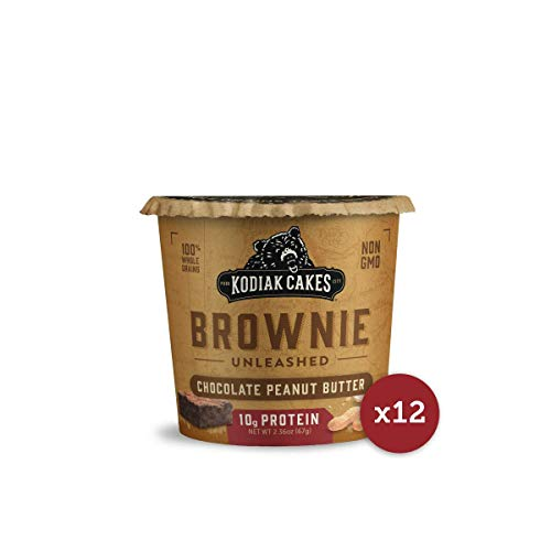 (Kodiak Cakes Chocolate Peanut Butter Brownie in a Cup, 2.36 Ounce (Pack of 12) (Packaging May)