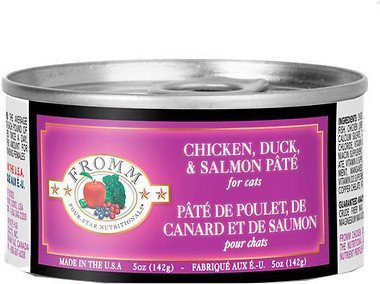 Fromm Four Star Chicken, Duck & Salmon Pate Canned Cat Food 5oz