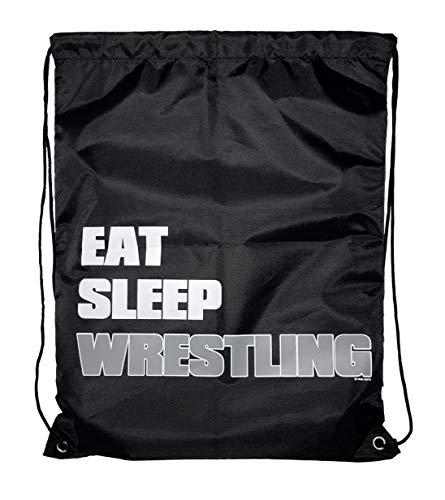 668f6c1acd0d Eat Sleep Wrestling Gear Sack Drawstring Bag for Youth Boys Kids 18