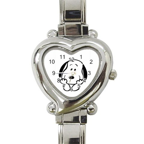 Animal Italian Charms - Snoopy Peanuts Lovely : Heart Italian Charm Watch