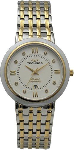 [テクノス]TECHNOS デイト 3針 セラミックベゼル T9504GW メンズ