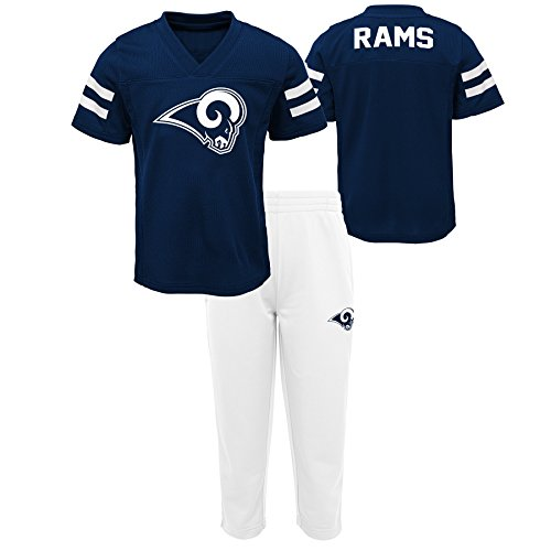 Outerstuff NFL NFL Los Angeles Rams Toddler Training Camp Short Sleeve Top & Pant Set Dark Navy, 3T