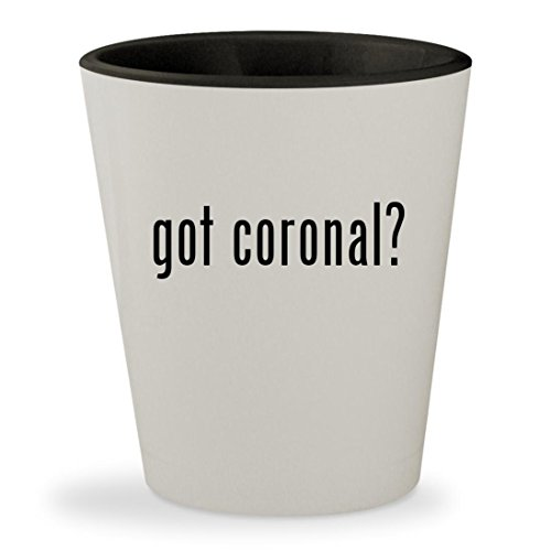 got coronal? - White Outer & Black Inner Ceramic 1.5oz Shot Glass Queen Elizabeth Ii Wig