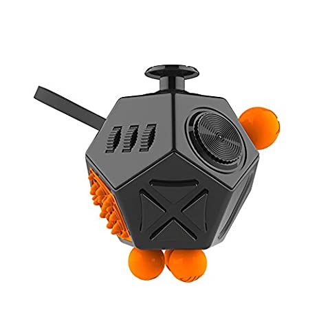 Pybrainpower 12 Sides Fidget Toy Cube Relieves Stress And Anxiety And Relax for Children and Adults with ADHD OCD (Y Flicker A1)