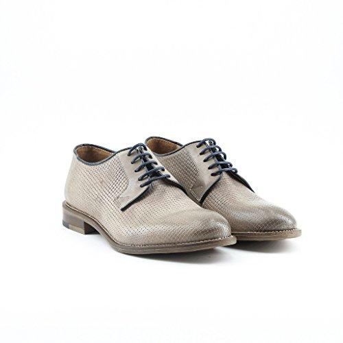 Marron Derby Made LEANDRO in De Homme Chaussures Italia Ville Lacets À FgqvwOp
