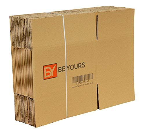 fe04540baff BeYours Pack of 20 Cardboard Boxes - Size 430 x 300 x 250 mm - Available in  Different Sizes - High Quality Moving House Boxes