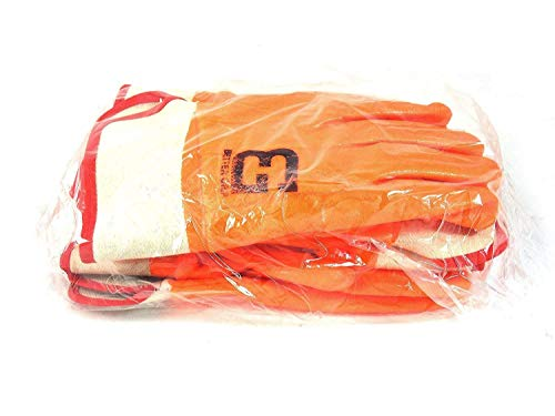 Troy Safety Heavy Duty Premium Sandy finished PVC Coated-Supported Glove with Safety Cuff, Chemical Resistant, Large, Fluorescent Orange (3 Pairs) by Troy Safety (Image #6)