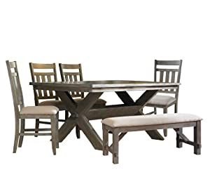 Amazon Com Powell Turino Dining Set 6 Piece Table