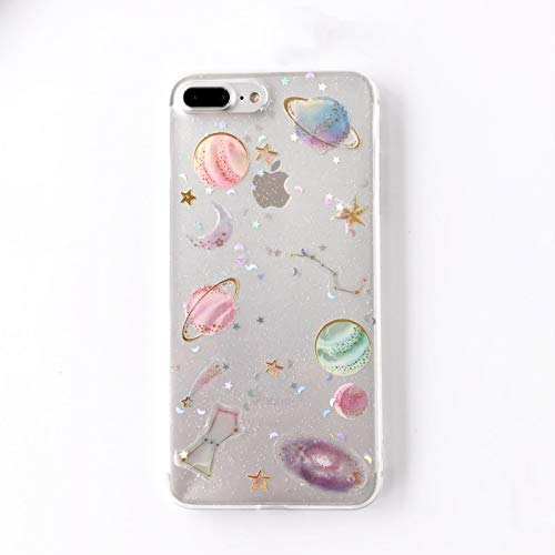 Fitted Cases - Epoxy Phone Case For Iphone Xs Xr Xs Max X 5 5s 6 6s 7 8 Plus X Planet Star Transparent Tpu Phone Back Cover Cases New! - For iPhone 7_White - Silver Man Fur Heater D Running (Fur Heater)