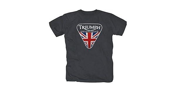 Triumph Motorcycle England Retro Motorcycle T-Shirt S-XXL DarkGrey