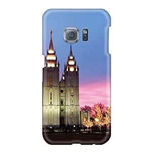 TimeaJoyce Samsung Galaxy S6 Best Hard Phone Case Customized Fashion Mormon Temple At Christmas Series [Rpm14331FaYS]