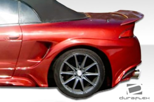 Duraflex Replacement for 1997-1999 Mitsubishi Eclipse Eagle Talon Millenium Wide Body Rear Fender Flares - 2 Piece