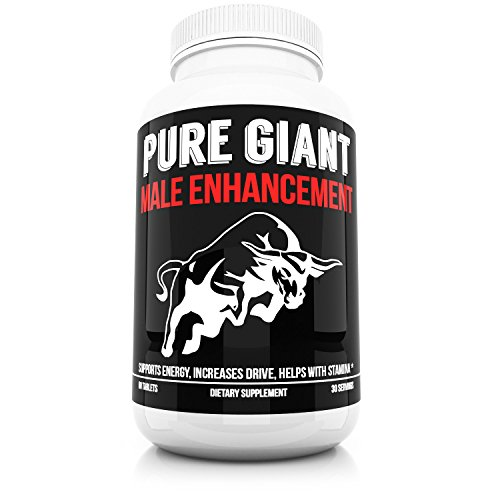 Pure Giant Male Enhancement - Maximum Strength Enhancing Pills for Men - Improve Sexual Health and Wellness - Restore Energy and Drive Fast - Highest Quality Enhancing Products and Supplements