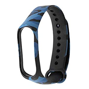HUMBLE Band Strap for Xiaomi Mi Band 3(Device not Included)-ARMYBLUE