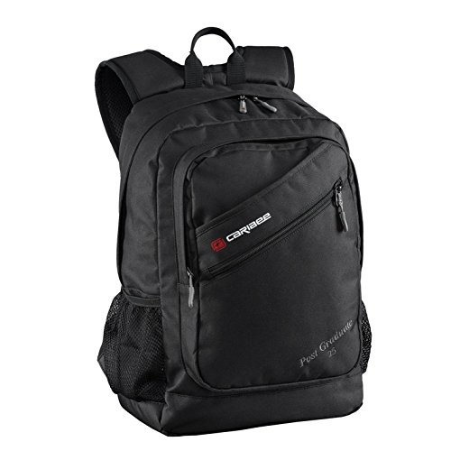 Caribee Backpack Liters Black with Graduate 25 cm Compartment Post Student Casual Daypack 48 Laptop tqrx7twS1