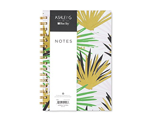 Blue Sky Ashley G  Notebook Journal, 160 Ruled Pages, Hardcover, Twin-Wire Binding, 5.75