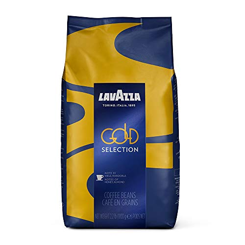 Lavazza Gold Selection Whole Bean Coffee Blend, Medium Espresso Roast, 2.2 Pound Bag