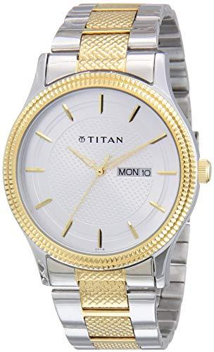 Titan Octane Analog Silver Dial Men's Watch NM1650BM03/NN1650BM03