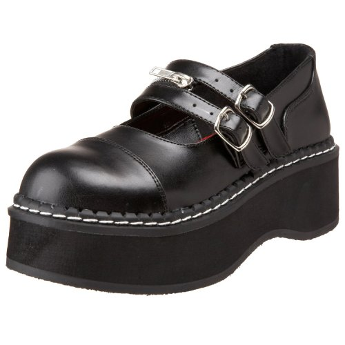 Demonia By Pleaser Womens Emily-306 Mary Jane Black Pu 3V15SZY