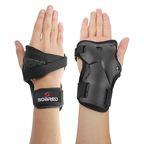 LALATECH Wrist Guards Protective Gear Skating Gloves Impact Wrist Brace Wrist Support Roller Skating Hard Gauntlets for Snowboard Skiing Skateboard Motocross (L)