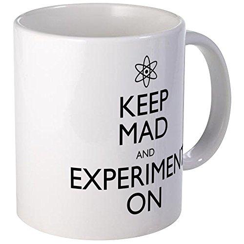 CafePress Keep Mad And Experiment On Mug Unique Coffee Mug, Coffee Cup ()