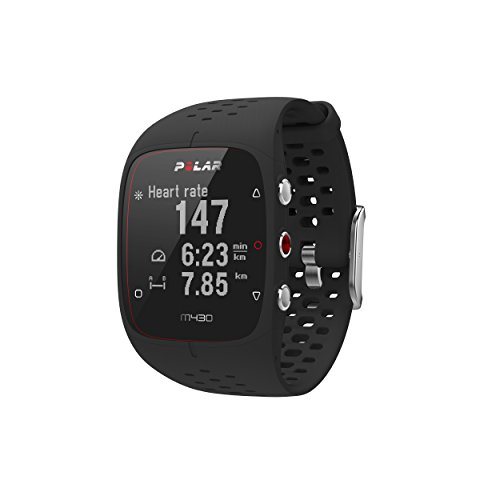 Polar M430 GPS Running Watch, Black (Marathon Heart Rate Monitor)